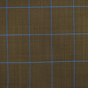 Checkered Pattern Brown Suit by Mozzo