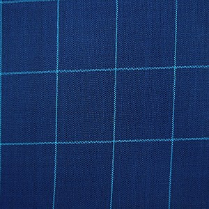 Checkered Pattern Blue Suit by Mozzo