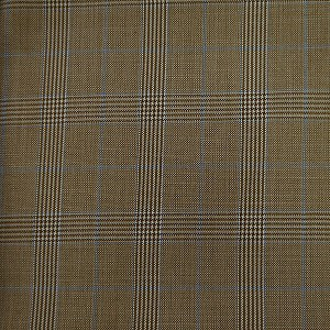 Checkered Pattern Goldish Brown Suit by Mozzo