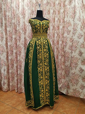 Henna dress with Hand work & embroidery