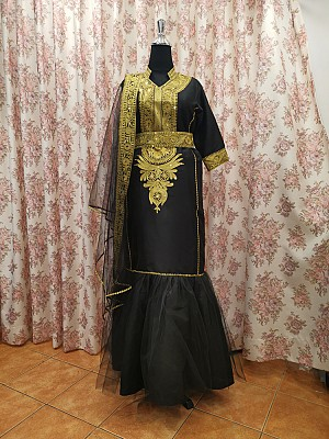 Black dress with Hand work & embroidery