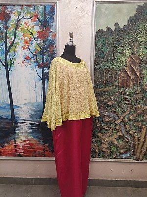 Yellow top with Gold embroidery