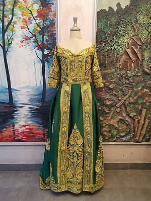 Henna dress with Gold embroidery